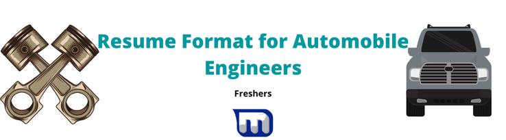 resume automobile engineers