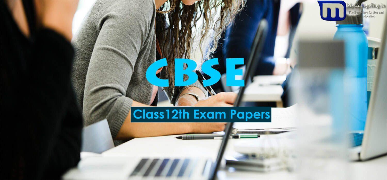 CBSE Class 12 Question Paper