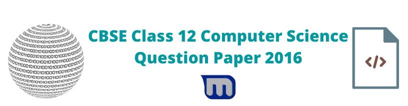 cbse 2016 class 12 cse papers