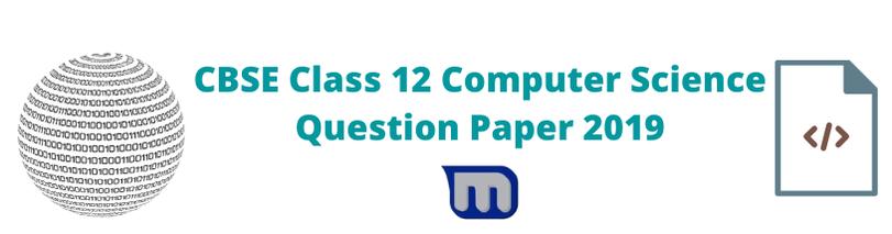 cbse class 12 2019 cse question papers