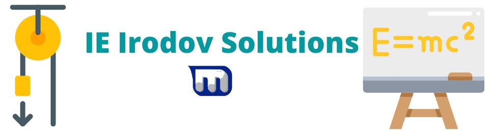 IE Irodov Solutions for Physics