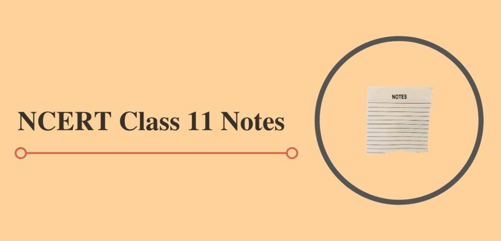 cbse class 11 notes
