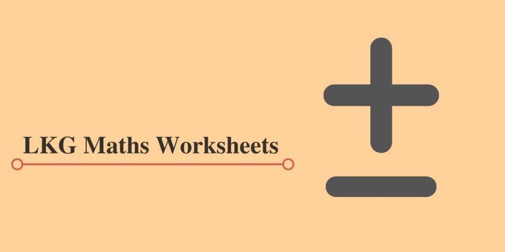 LKG Workbooks in PDF for Maths