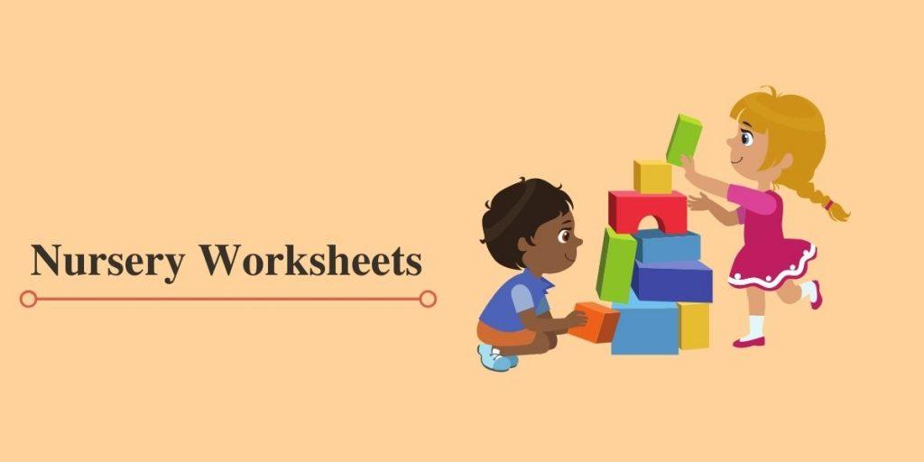 worksheet for nursery class