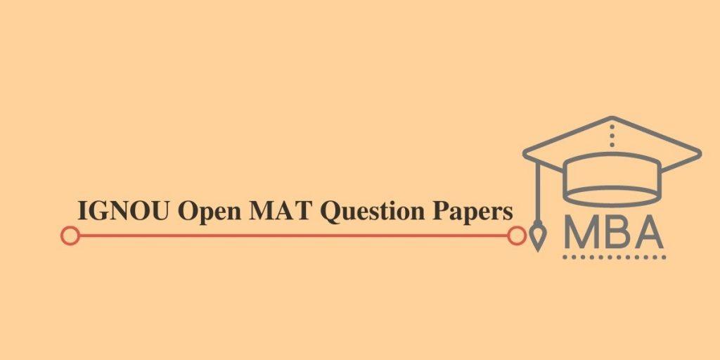 IGNOU Open MAT Question Papers