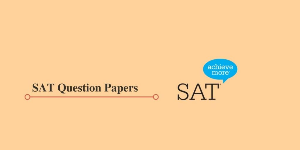 SAT Sample Question Papers